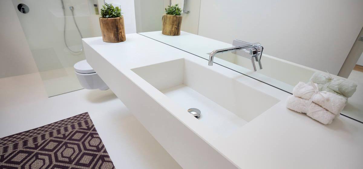 lavabo blanco neolithe